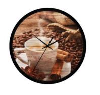 kávé csészés falióra